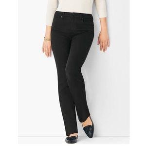 Talbots straight leg black jeans